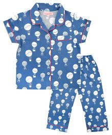 CrayonFlakes Parachute Night Suit - Navy Blue