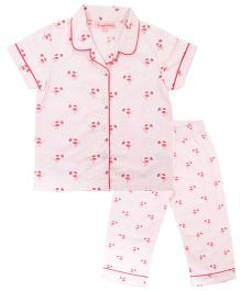 CrayonFlakes Birds Night Suit - Light Pink