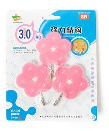 EZ Life 3 Piece Wall Hook Set Flower with Star - Pink