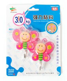 EZ Life 3D Wall Hook Butterfly Set 2pcs - Pink