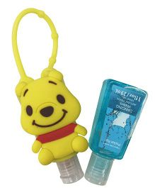 EZ Life Cute Teddy Silicon Sanitizer Holder With 2 Sanitizers - Yellow
