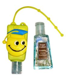 EZ Life Cartoon Silicon Sanitizer Holder With 2 Sanitizers - Yellow
