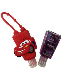 EZ Life Car Silicon Sanitizer Holder With 2 Sanitizers - Red