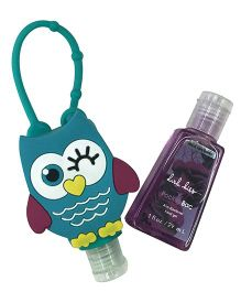 EZ Life Winking Owl Silicon Sanitizer Holder With 2 Sanitizers - Blue