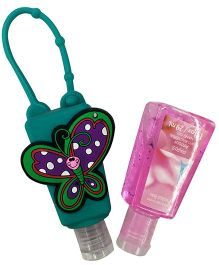 EZ Life Butterfly Silicon Sanitizer Holder With 2 Sanitizers - Green