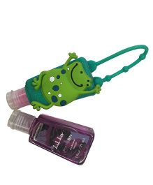 EZ Life Froggy Silicon Sanitizer Holder With 2 Sanitizers - Green