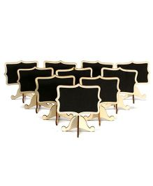 EZ Life Chalkboards With Stands Pack of 6 Shapes - Black