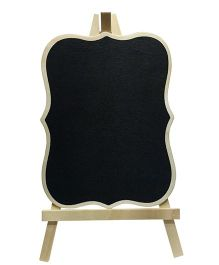 EZ Life Rectangular Chalkboard Frame With Stand Pack of 2 - Black