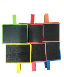 EZ Life Chalkboard Clips Set of 6 - Multicolor