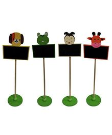 EZ Life Chalkboard With Cartoon Stands (Pack of 3) - Multicolour