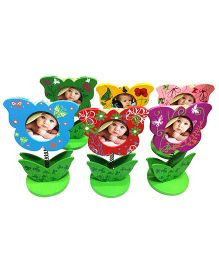 EZ Life Butterfly Photo Frame With Memo Holder Pack of 3 - Multicolour