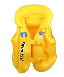 EZ Life Inflatable Body Vest Float For Swimming Medium - Yellow