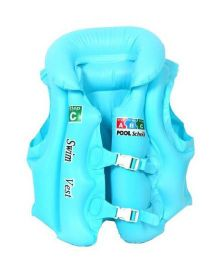 EZ Life Inflatable Body Vest Float For Swimming Medium - Blue