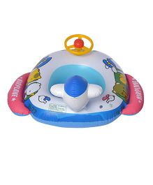 EZ Life Inflatable Racing Car Swimming Ring Float - Multicolour
