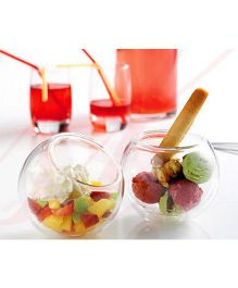 EZ Life Double Wall Cup Giggle Dessert & Starters Bowl - Transparent