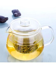 EZ Life Glass Tea Pot With Infuser - Transparent