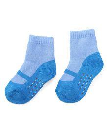 Cute Walk by Babyhug Anti Bacterial Socks Shoes Design - Blue