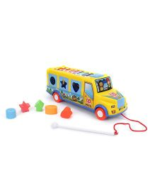 Smiles Creation Colorful Bus Toy - Yellow & Blue