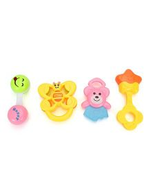 Smiles Creations Rattle Set Pack of 4 - Multi Color