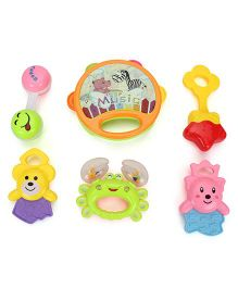 Smiles Creation Rattle Set Pack Of 5 Pieces (Color May Vary)