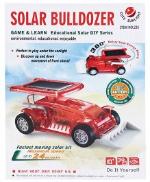 Smiles Creation Solar Bulldozer DIY Toy Red - 25 Pieces