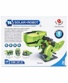 Smiles Creation T4 Solar Robot Kit Toy - Green