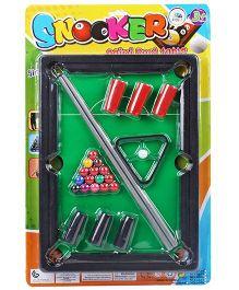 Smiles Creation Snooker Game Set Toy - Green Black