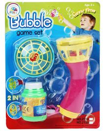 Smiles Creation Bubble Game Set And Fan Toy (Color May Vary)