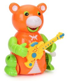 Smiles Creation Guitar Bear Friction Toy (Color May Vary)