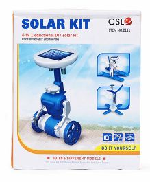 Smiles Creation 6 In 1 Educational DIY Solar Kit - Blue White