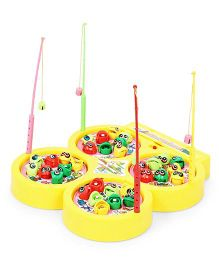 Smiles Creation Fish Catching Game Toy - Yellow