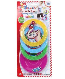 Smiles Creation Game And Fun Pitching Ring Toy - Multicolor