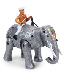 Smiles Creation Elephant With Rider - Grey