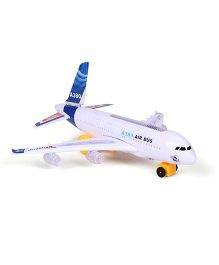Smiles Creation Air Bus Toy For Kids - Blue White