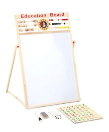 Smiles Creation Educational Wooden Board Toy - Brown