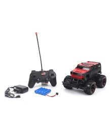 Smiles Creation Remote Control Monster Truck Toy - Red Black