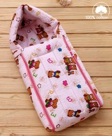 Babyhug Sleeping Bag Little Teddy - Pink