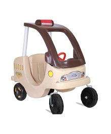 Gro Kids Manual Push Ride On Couple Car - Beige Brown
