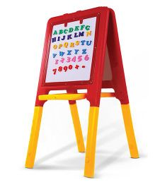 Gro Kids 2 Way Easel Board - Red Yellow