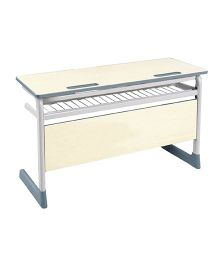 Gro Kids Senior Twin Desk - Cream Grey