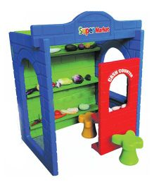 Gro Kids Super Market Role Play House - Multicolor