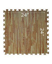 Gro Kids Wooden Floor Mat Set Brown - 4 Pieces