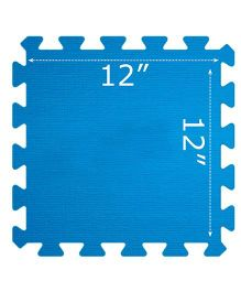 Gro Kids Floor Mat Set Blue - 4 Pieces
