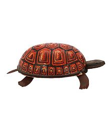 Welby Tortoise Tin Toy - Brown Red