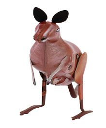 Welby Kangaroo Tin Wind Up Toy - Brown
