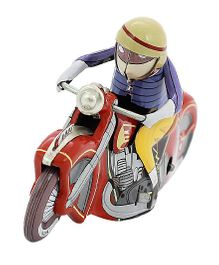 Welby Racing Motor Cycle Toy - Blue Red