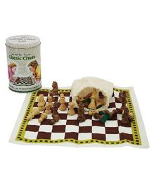 Welby Classic Chess Game - Brown Cream