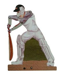 Welby Cricketer Figure - White Green