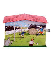 Welby Football Print Money Bank - Multicolor