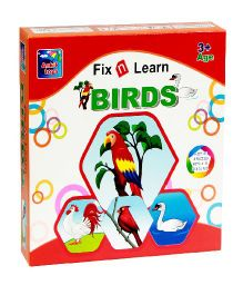 Ankit Toys Fix N Learn Birds Puzzle Set Pack Of 4 - 36 Pieces